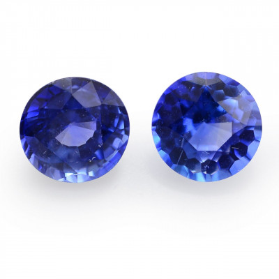 1.25 карат, синий, Шри-Ланки Сапфир, круглой формы