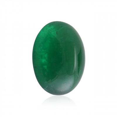 19.60 карат, зеленый, колумбийский изумруд, кабошон формы