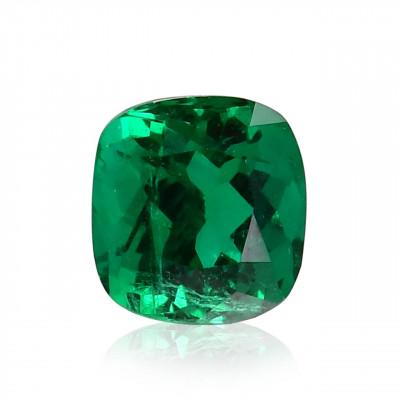 2.05 карат, зеленый, колумбийский изумруд, подушкообразной формы, мелкие, GUBELIN