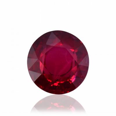 2.14 карата, цвета голубиной крови, Рубин Мозамбик, круглой формы, гр