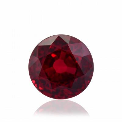 2.21 карат, цвета голубиной крови, Рубин Мозамбик, круглой формы, не свидетельствует о повышение тепло, гр