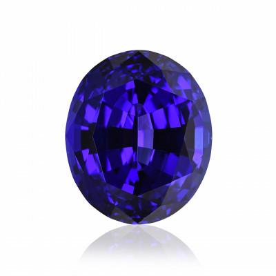 13.66 карат, синий, розовый, овальной формы, GWLAB