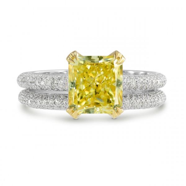 Fancy Intense Yellow Radiant Diamond Wedding Set (2.56Ct TW)