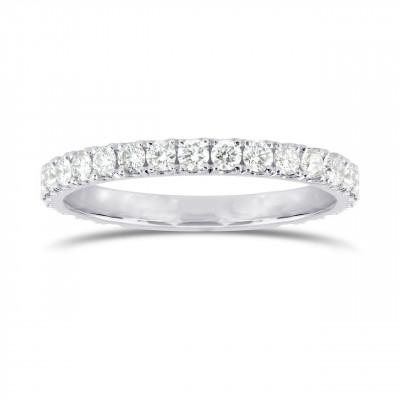 Open Pave Diamond Half Eternity Ring (0.30Ct TW)