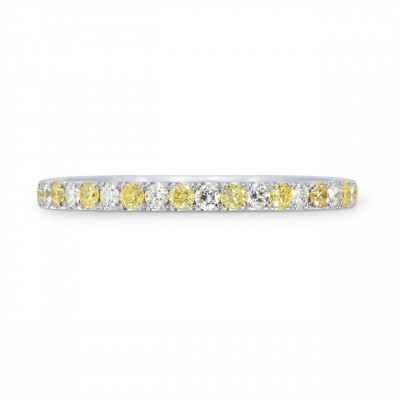 Fancy Intense Yellow and White Diamond Band Ring (0.30Ct TW)
