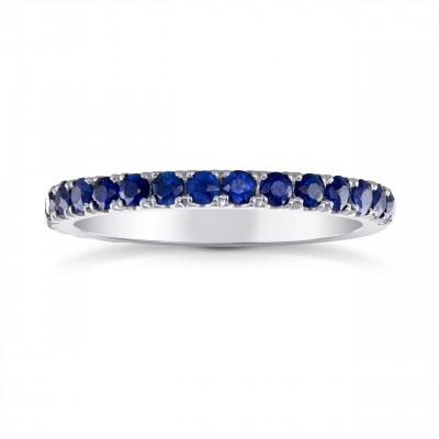 Sapphire Half-Eternity Band Ring (0.60Ct TW)