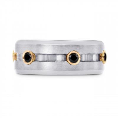 Black Diamond Gents Wedding Band Ring (0.30Ct TW)