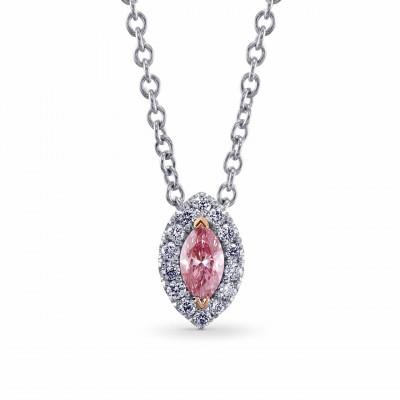 Fancy Intense Pink Diamond Pendant (0.12Ct TW)