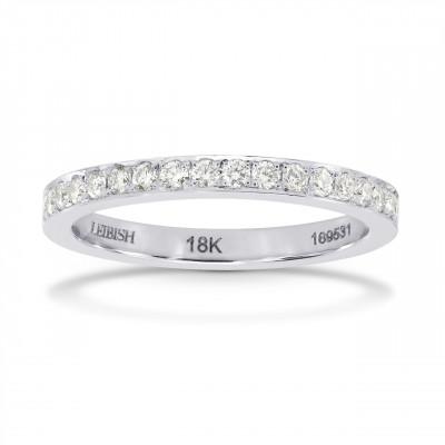 Closed-Pave Half Eternity Diamond Ring (0.30Ct TW)