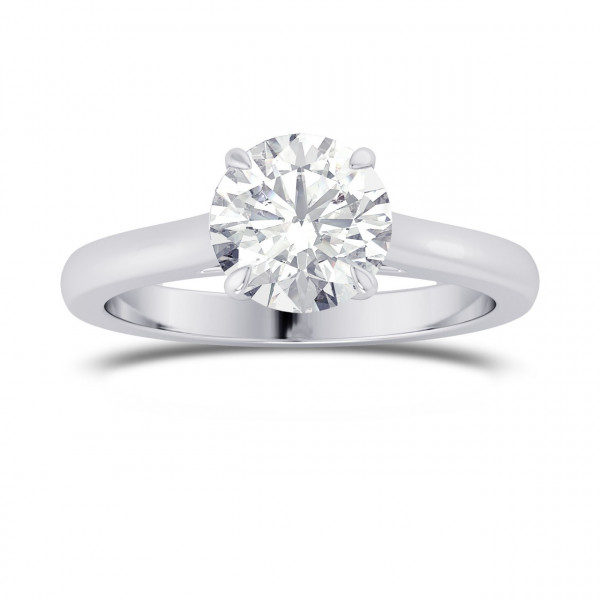 1.00ct GIA Round Brilliant Classic 4 Prong Solitaire Ring (1.00Ct TW)