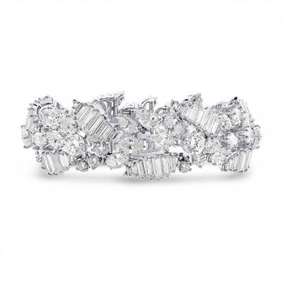 Extraordinary Fancy Shape White Diamond Bracelet (37.00Ct TW)