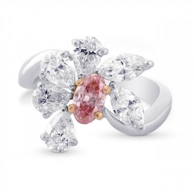 Argyle Fancy Intense Pink and White Diamond Designer Ring. (2.34Ct TW)