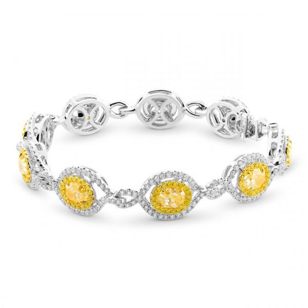 Fancy Light Yellow Oval Diamond Bracelet (11.75Ct TW)