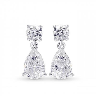 Pear Diamond Drop Earrings (1.80Ct TW)