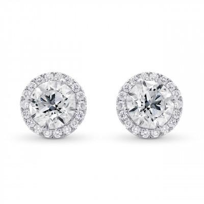 Round Brilliant GIA Diamond Halo Earrings (4.50Ct TW)