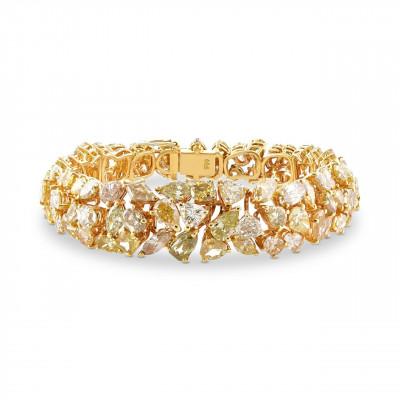 MULTI COLOR  DIAMOND BRACELET (24.50Ct TW)