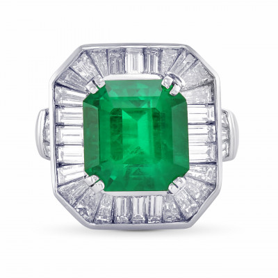 Exceptional Emerald and Diamond Couture Ring (7.10Ct TW)
