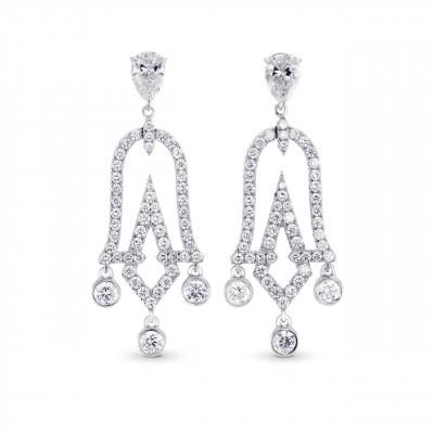 Chandelier Pear Shape Drop Earrings (1.79Ct TW)
