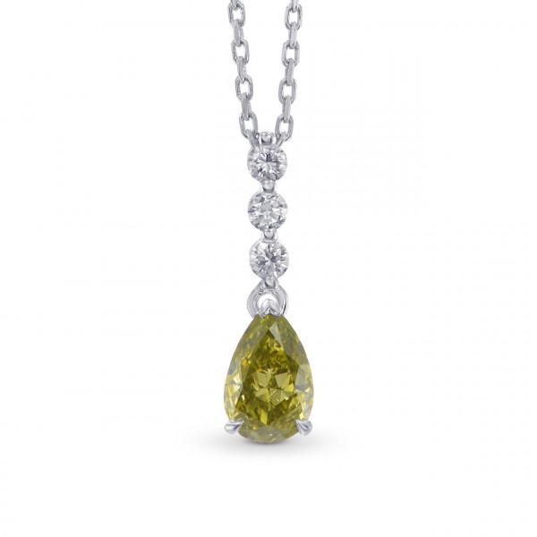 Chameleon Pear Shape and Brilliant cut Diamond Pendant (0.71Ct TW)