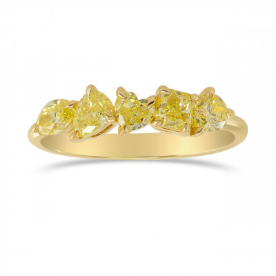 Fancy Yellow Mix Shape Band Ring (1.01Ct TW)