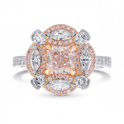 Extraordinary Fancy Light Pink Radiant Diamond Ring (1.84Ct TW)