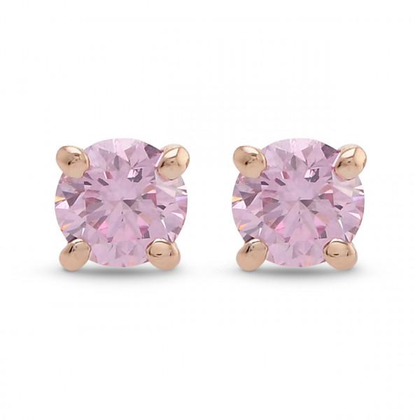 Argyle Fancy Intense Pink Round Brilliant Stud Earrings (0.27Ct TW)