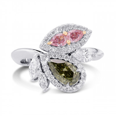 Asymmetrical Couture Color Diamond Ring (1.61Ct TW)