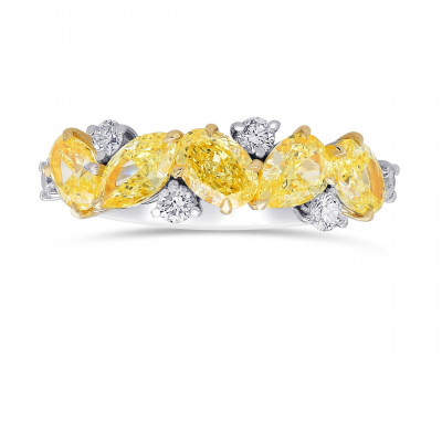 Fancy Yellow Mix and Collection Diamonds Band Ring (2.45Ct TW)