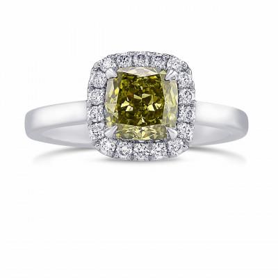 Chameleon Cushion Diamond Halo Ring (1.27Ct TW)