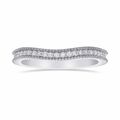 Contoured Milgrain Diamond Wedding Band (0.28Ct TW)