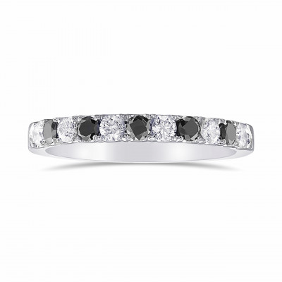 Black and Collection color Diamond Half-Eternity Wedding Band Ring (0.48Ct TW)