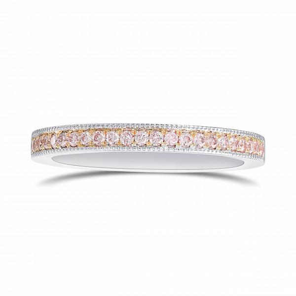 Fancy Light Pink Diamond Milgrain Band Ring (0.17Ct TW)