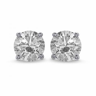 Round Brilliant Diamond Stud Earrings (1.40Ct TW)